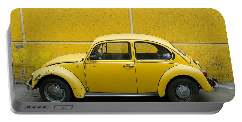 Yellow Portable Battery Charger featuring the photograph Yellow Bug by Skip Hunt