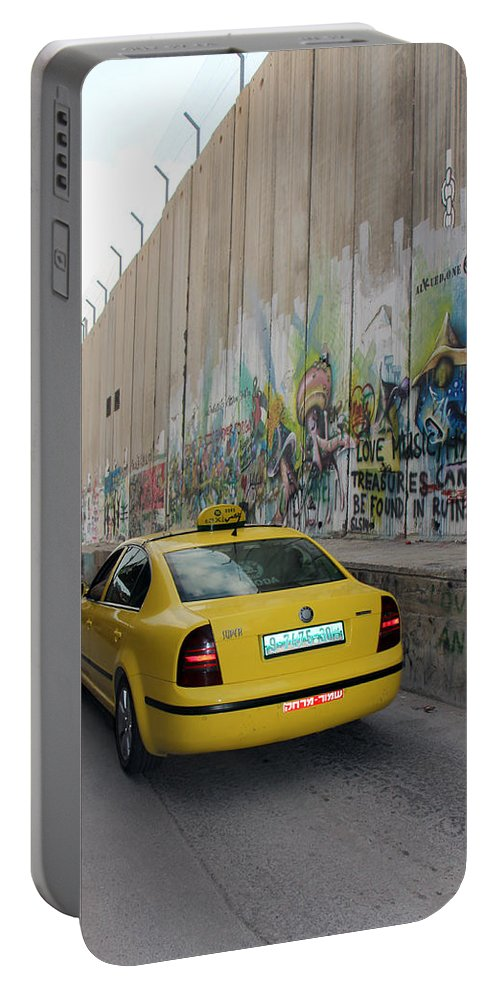 Yellow Cab Portable Battery Charger featuring the photograph Yellow Cab by Munir Alawi