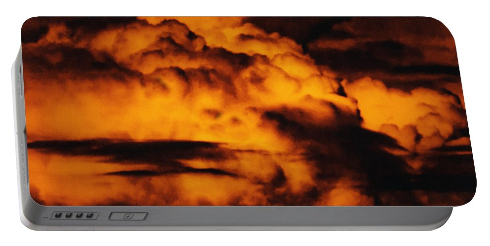 Cloud Portable Battery Charger featuring the digital art Clouds Time by Max Steinwald