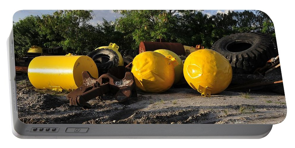 Yellow Portable Battery Charger featuring the photograph Yellow by David Lee Thompson