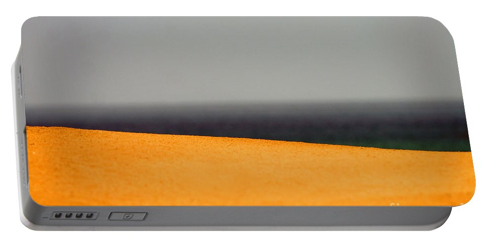 Yellow Portable Battery Charger featuring the photograph Yellow Horizon by Hana Shalom