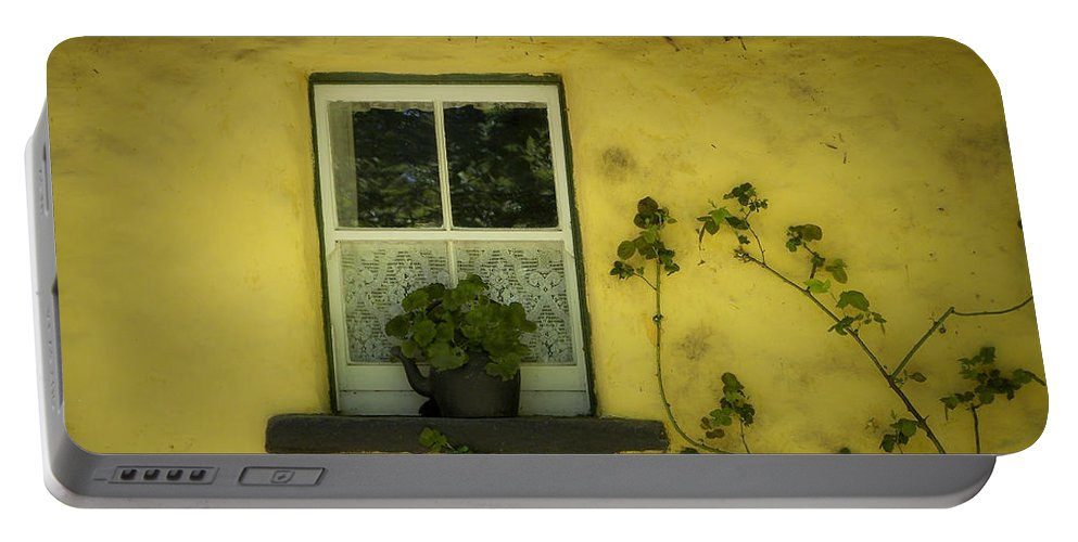 Irish Portable Battery Charger featuring the photograph Yellow House County Clare Ireland by Teresa Mucha