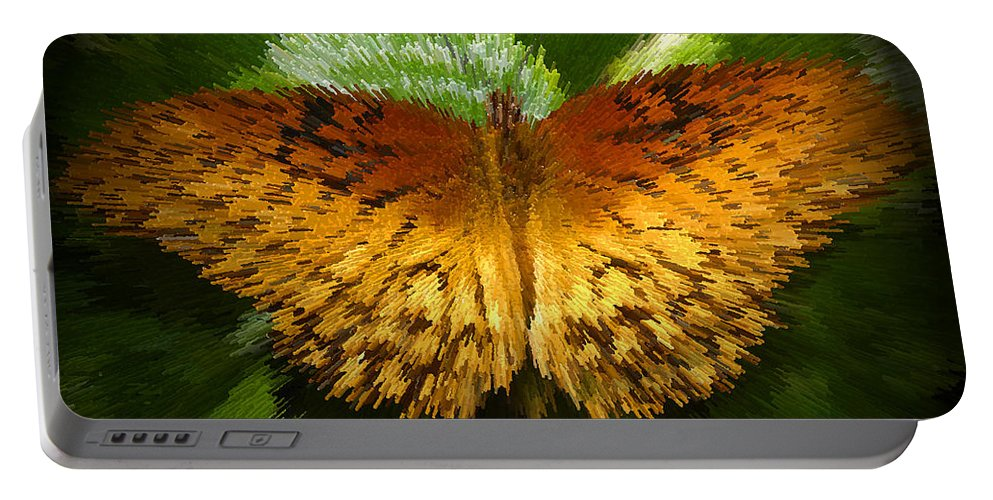 Butterfly Portable Battery Charger featuring the digital art Yellow In The Garden by David Lee Thompson