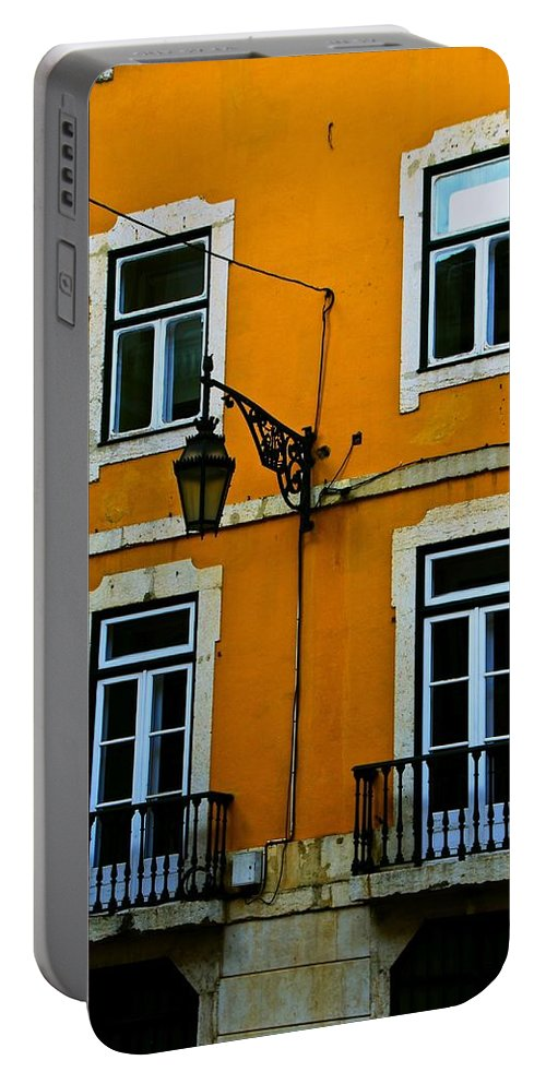 Yellow Portable Battery Charger featuring the photograph Yellow Italian Building by Eric Tressler