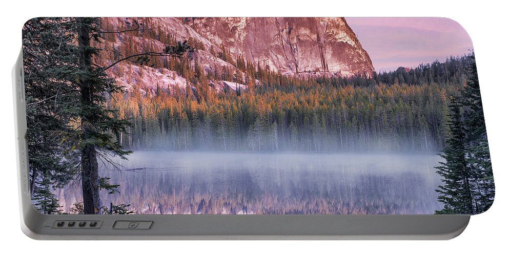 Idaho Scenics Portable Battery Charger featuring the photograph Yellow Jacket Lake by Leland D Howard