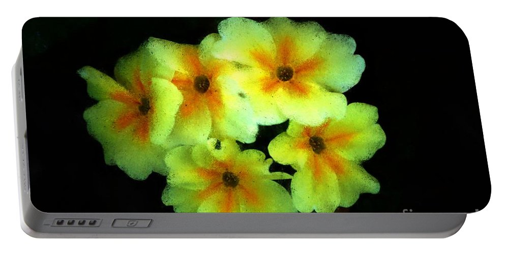 Digital Photo Portable Battery Charger featuring the photograph Yellow Primrose 5-25-09 by David Lane