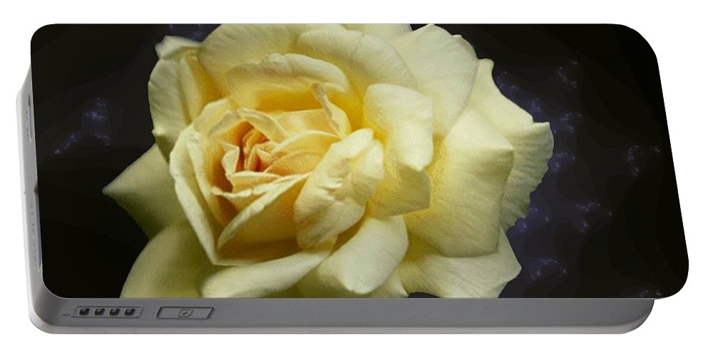 Yellow Rose Portable Battery Charger featuring the photograph Yellow Rose 2 by Tim Allen