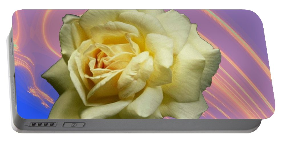 Rose Portable Battery Charger featuring the photograph Yellow Rose 3 by Tim Allen