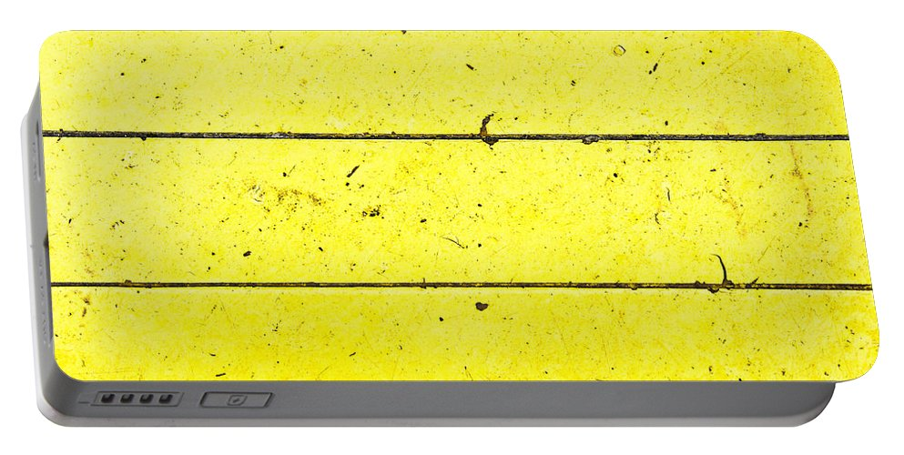 Abstract Portable Battery Charger featuring the photograph Yellow Stone by Tom Gowanlock