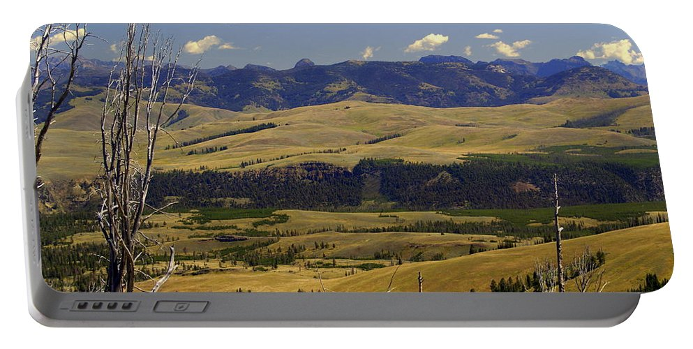 Yellowstone National Park Portable Battery Charger featuring the photograph Yellowstone Landscape 2 by Marty Koch