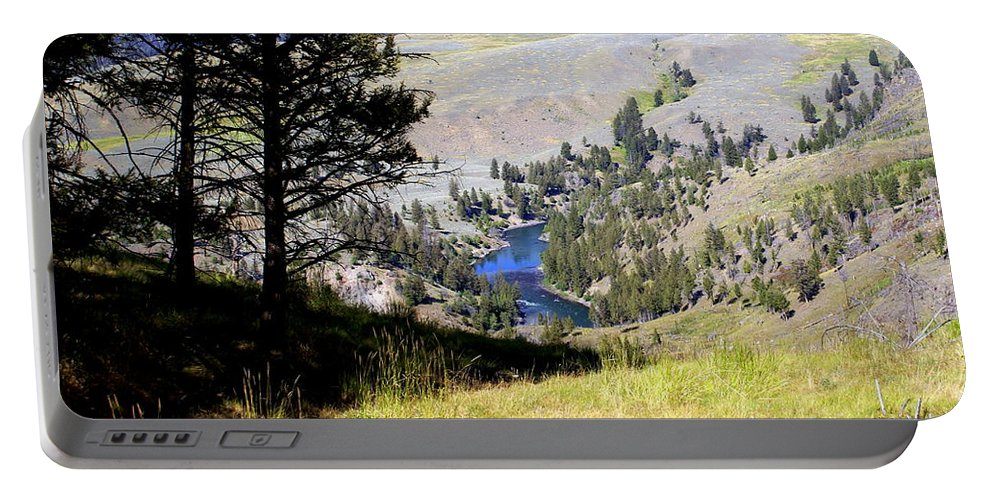 Yellowstone National Park Portable Battery Charger featuring the photograph Yellowstone River Vista by Marty Koch