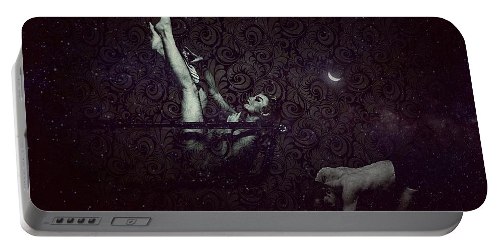 Mistress Portable Battery Charger featuring the digital art Yes Mistress by Tiffaney Porter