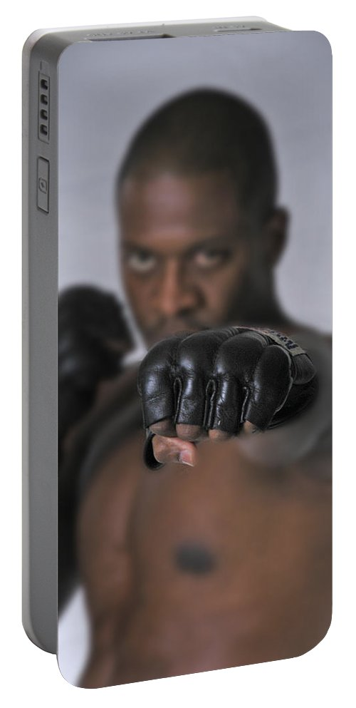 Fighter Portable Battery Charger featuring the photograph Yes We Can by D'Arcy Evans