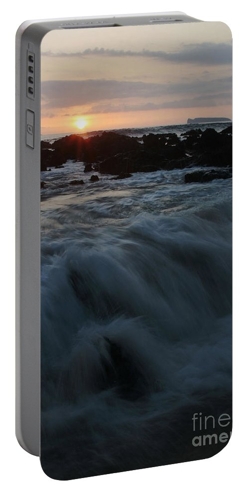 Aloha Portable Battery Charger featuring the photograph Yielding by Sharon Mau