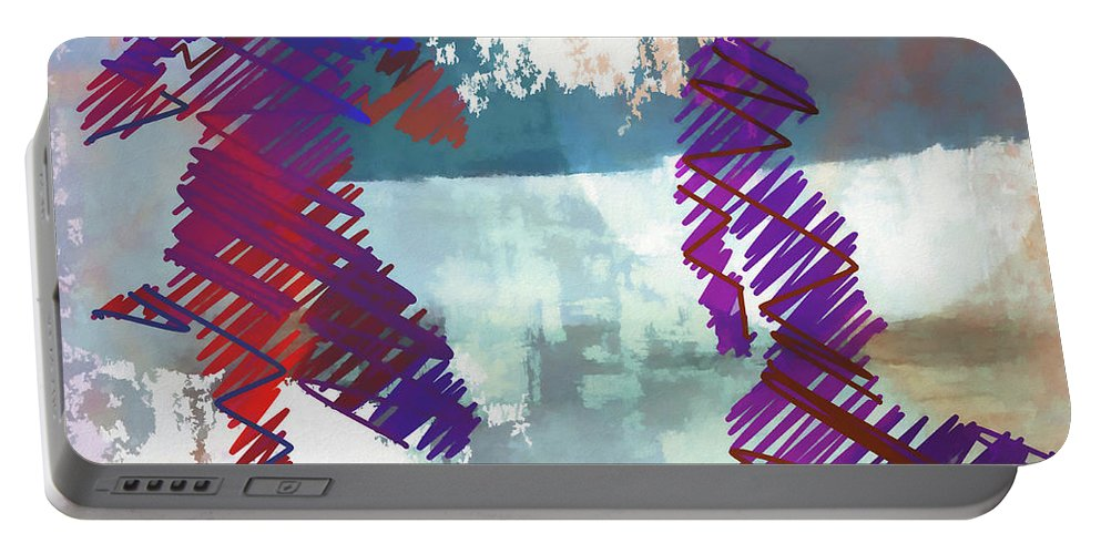 Yoga Portable Battery Charger featuring the digital art Yoga Vi by Ronald Bolokofsky