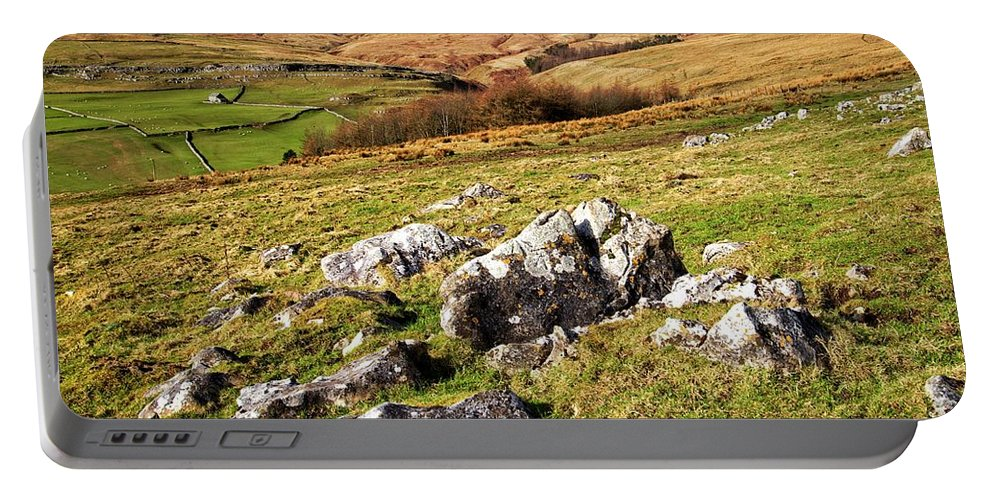 Yorkshire Dales Portable Battery Charger featuring the photograph Yorkshire Dales Limestone Countryside by Martyn Arnold