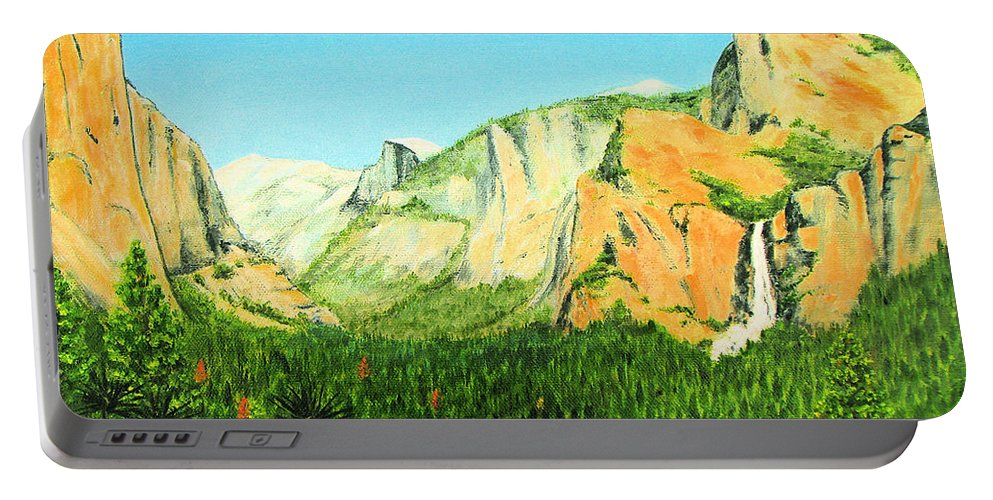 Yosemite National Park Portable Battery Charger featuring the painting Yosemite National Park by Jerome Stumphauzer