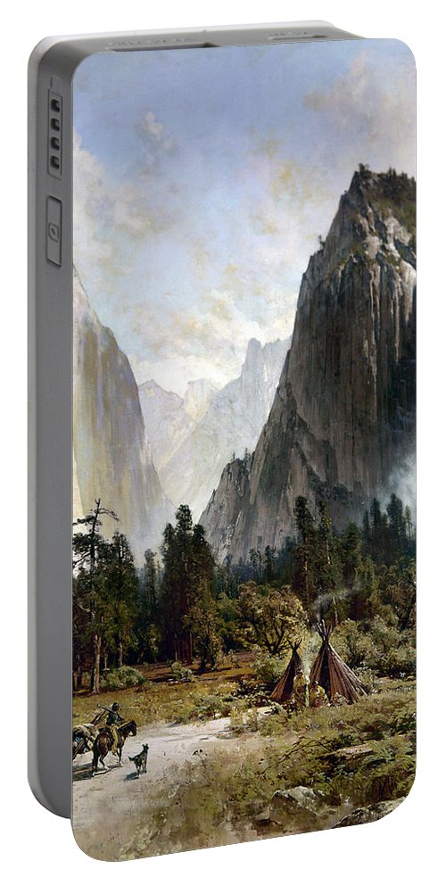 1860 Portable Battery Charger featuring the photograph Yosemite Valley, C1860 by Granger
