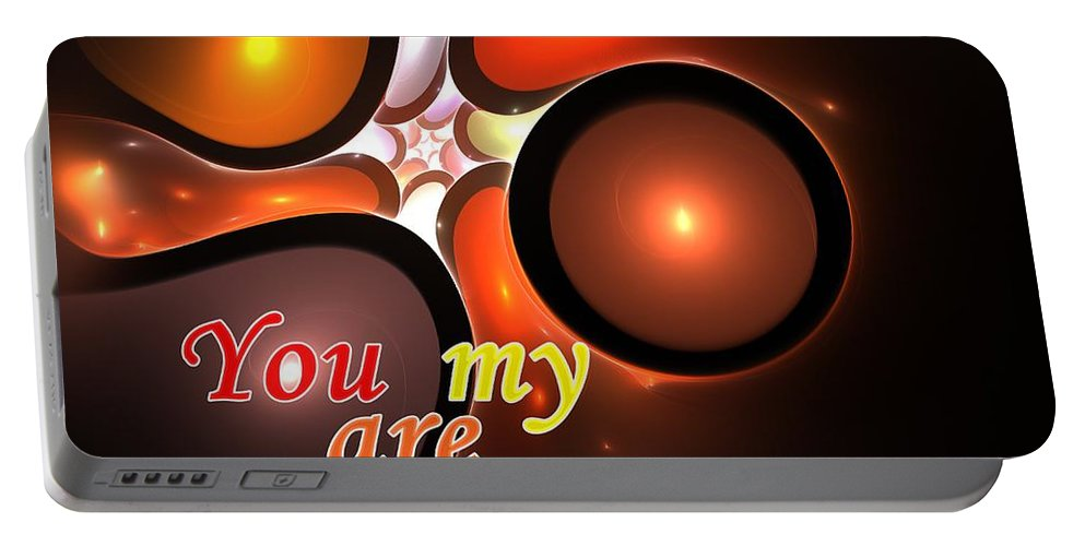 Inspiration Portable Battery Charger featuring the digital art You Are My Inspiration by Steve K