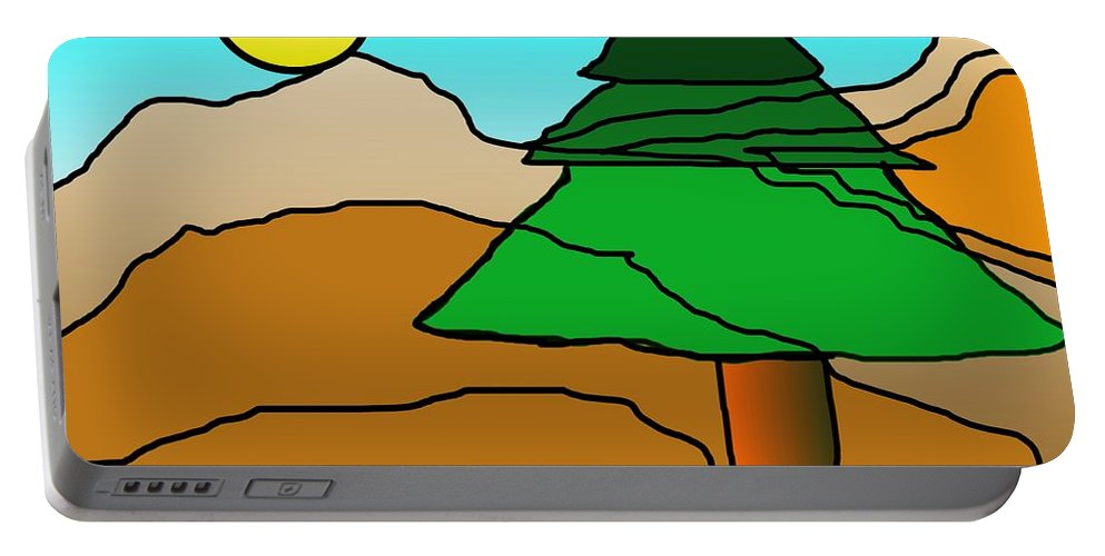 Digital Art Portable Battery Charger featuring the digital art You Dared Me by David Lane