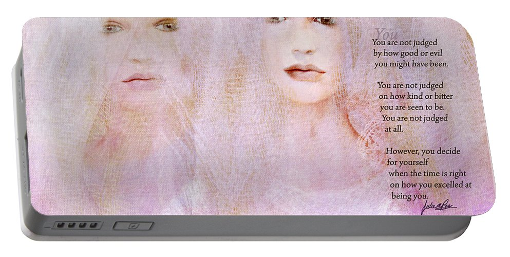 You Portable Battery Charger featuring the digital art You by Julie m Rae