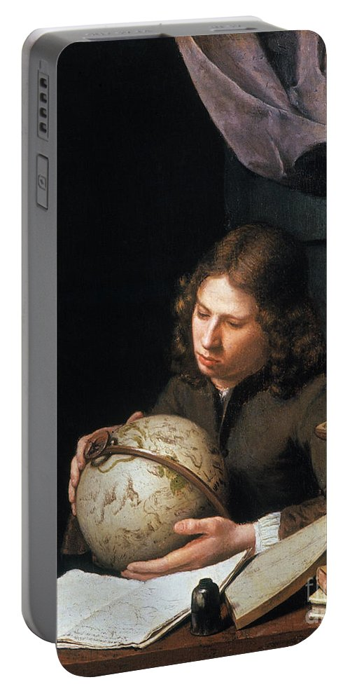 Astronomer Portable Battery Charger featuring the photograph Young Astronomer by Granger