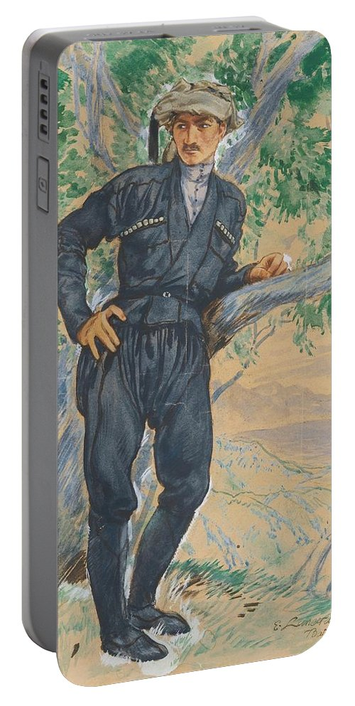 Yevgeni Lanceray Portable Battery Charger featuring the painting Young Georgian by MotionAge Designs