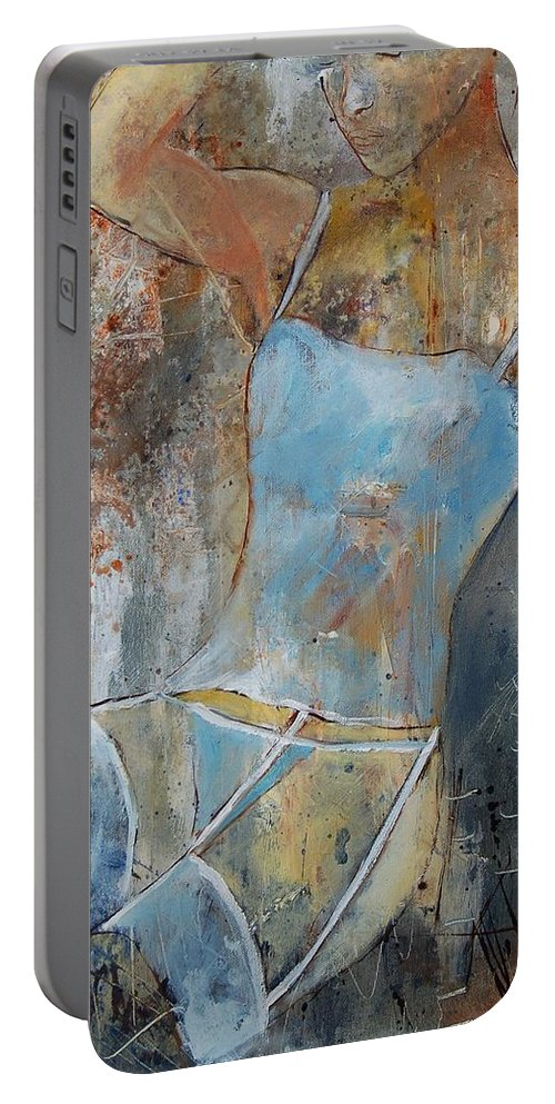 Nude Portable Battery Charger featuring the painting Young Girl 451108 by Pol Ledent
