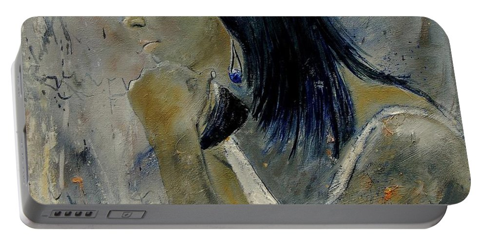 Girl Portable Battery Charger featuring the painting Young Girl Eg569090 by Pol Ledent