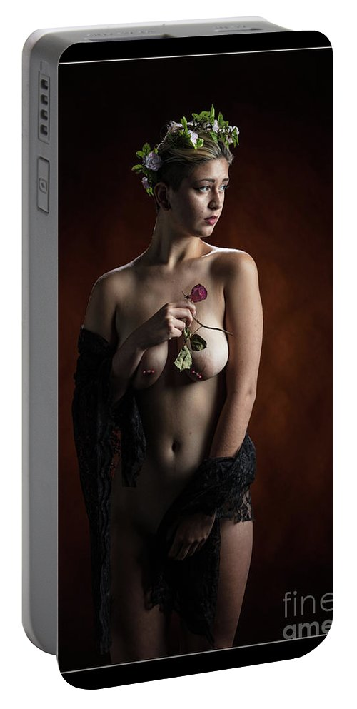 Nude Portable Battery Charger featuring the photograph Young Woman Nude 1729.181 by Kendree Miller