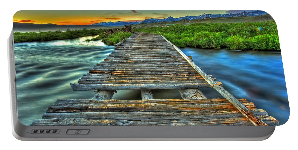 Sunrise Portable Battery Charger featuring the photograph Your Path Lies Before You by Scott Mahon