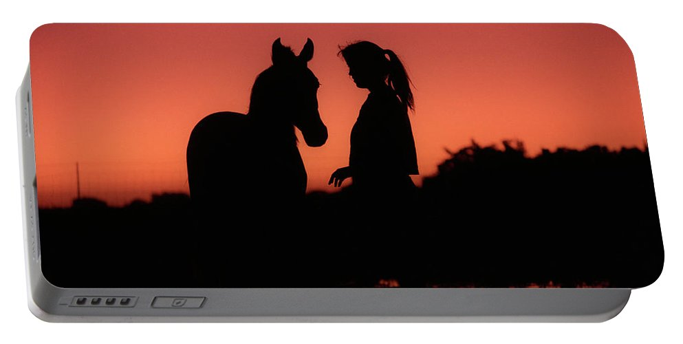 Silhouette Portable Battery Charger featuring the photograph Youth by Jim And Emily Bush