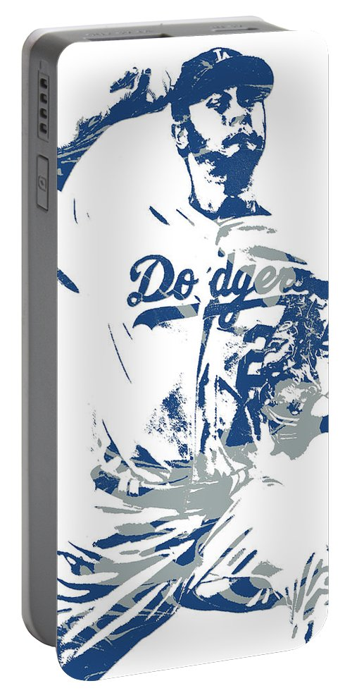 050b9a5a987 Yu Darvish Portable Battery Charger featuring the mixed media Yu Darvish  Los Angeles Dodgers Pixel Art