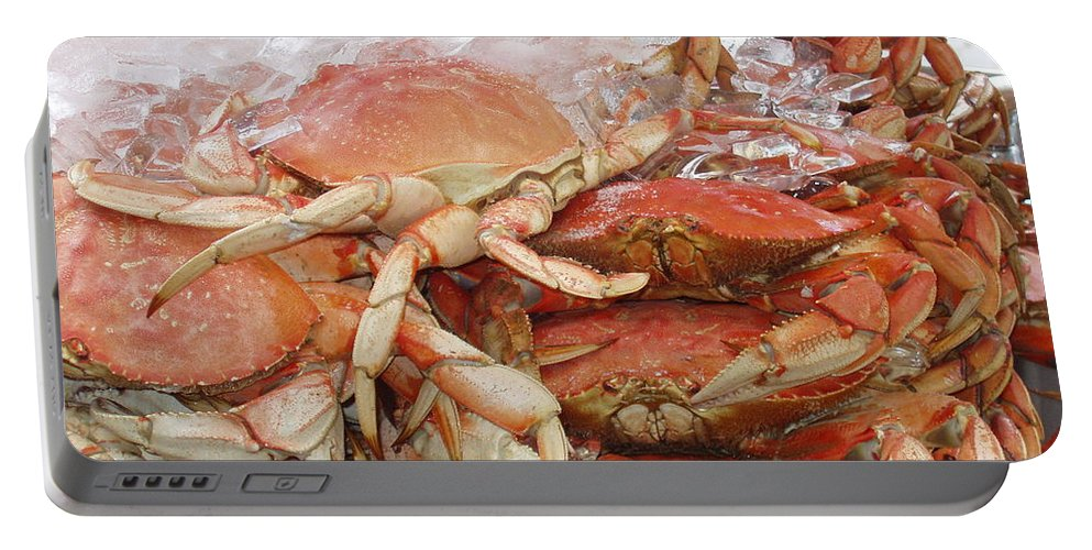 Crabs Portable Battery Charger featuring the photograph Yummy by Deborah Crew-Johnson
