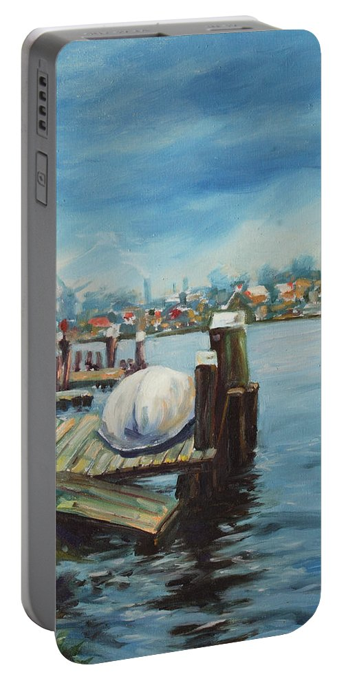 Water Portable Battery Charger featuring the painting Zaandam by Rick Nederlof