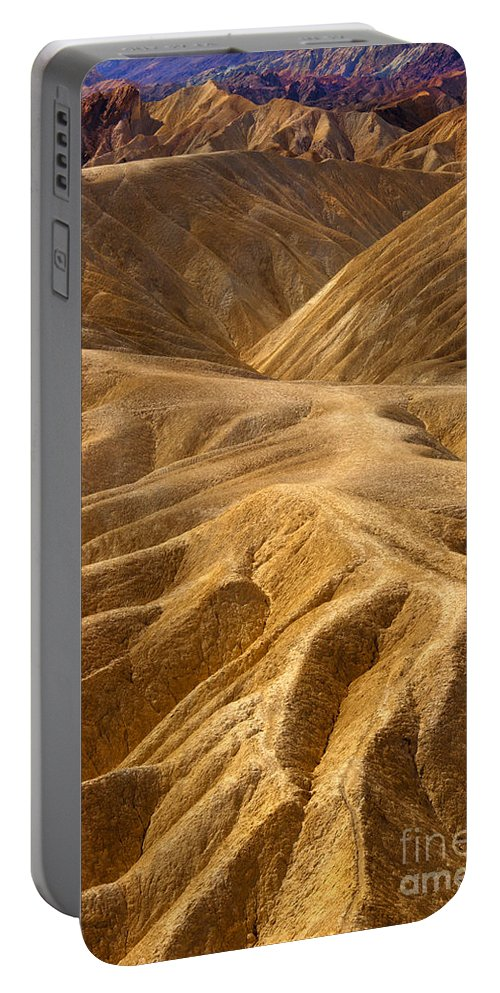 Hills Portable Battery Charger featuring the photograph Zabriskie Morning by Mike Dawson