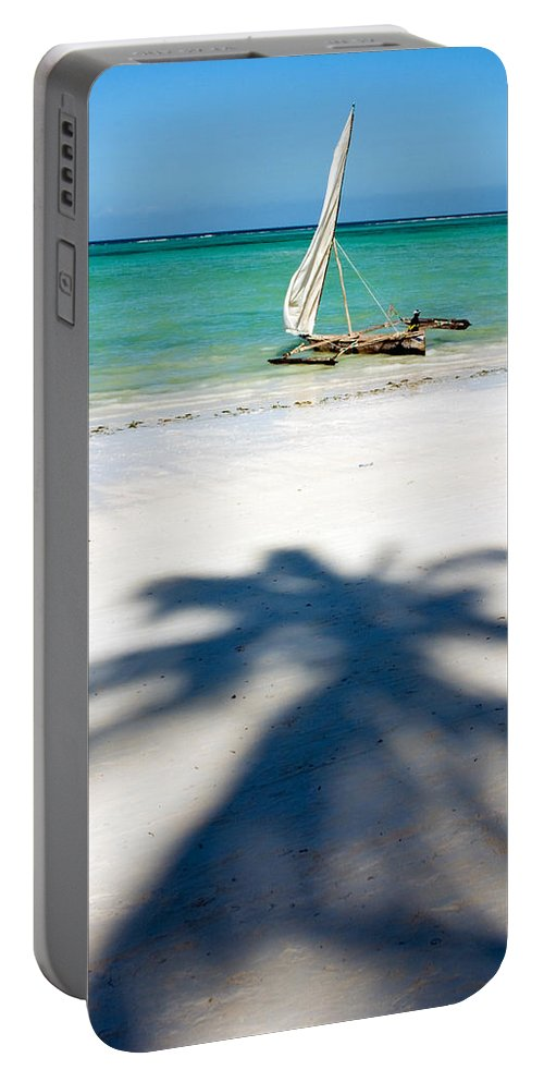 3scape Portable Battery Charger featuring the photograph Zanzibar Beach by Adam Romanowicz