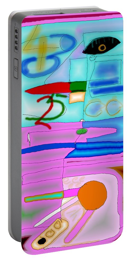 Zapp Portable Battery Charger featuring the digital art Zapp by Helmut Rottler