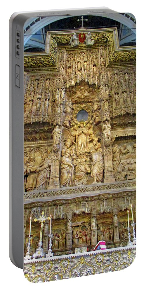 Cathedral Portable Battery Charger featuring the photograph Zaragoza Cathedral 18 by Randall Weidner