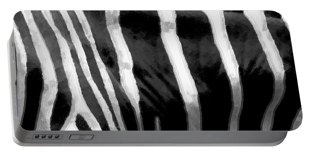 Zebra Art Portable Battery Charger featuring the photograph Zebra Lines by Linda Sannuti