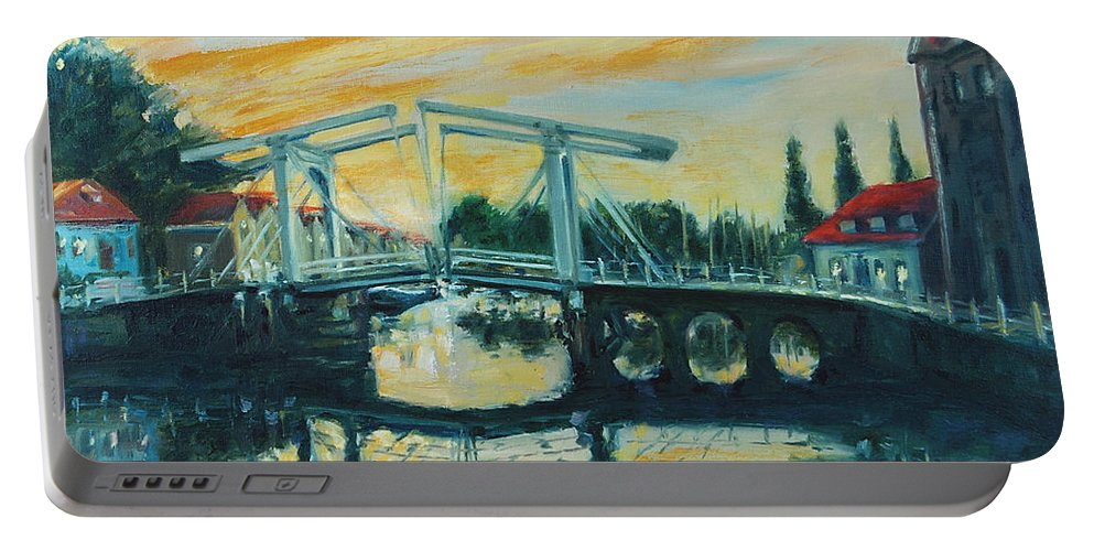 Bridge Portable Battery Charger featuring the painting Zeeland by Rick Nederlof