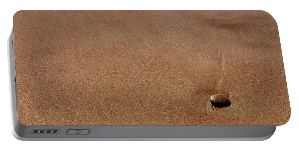 Clay Portable Battery Charger featuring the photograph Zen At The Beach by Clayton Bruster