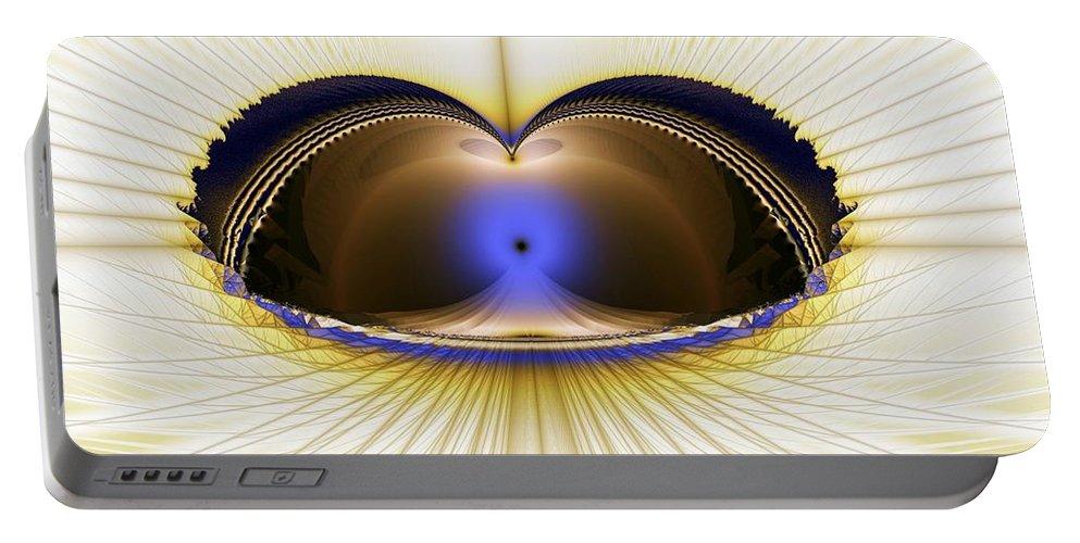 Zen Portable Battery Charger featuring the digital art Zen Temple by Ron Bissett