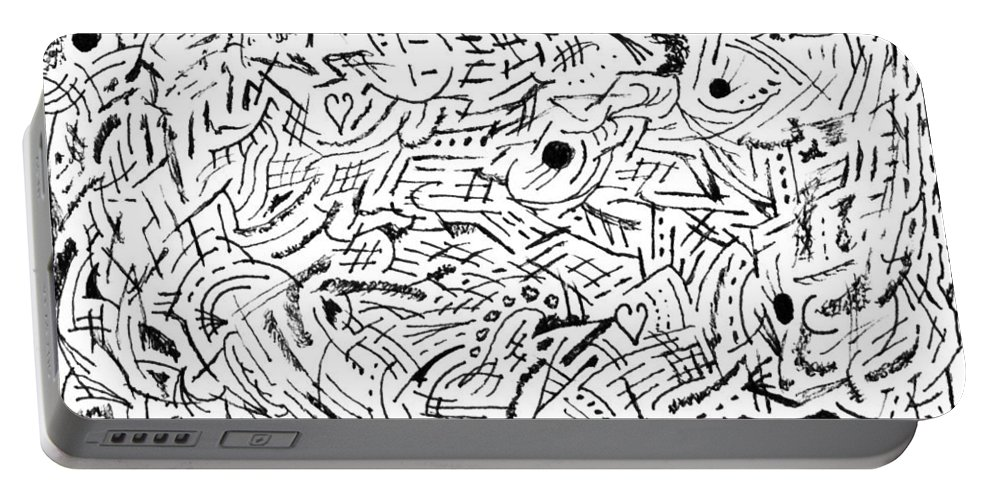 Mazes Portable Battery Charger featuring the drawing Zephyr by Steven Natanson