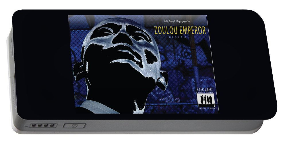 Poster Portable Battery Charger featuring the photograph Zoulou Emperor by Line Gagne