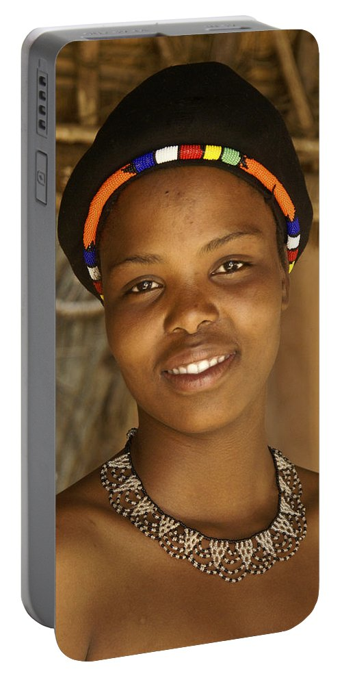 Africa Portable Battery Charger featuring the photograph Zulu Beauty by Michele Burgess
