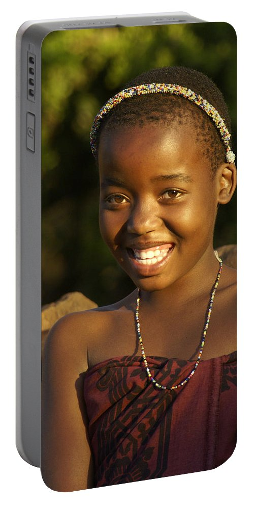 Africa Portable Battery Charger featuring the photograph Zulu Charmer by Michele Burgess