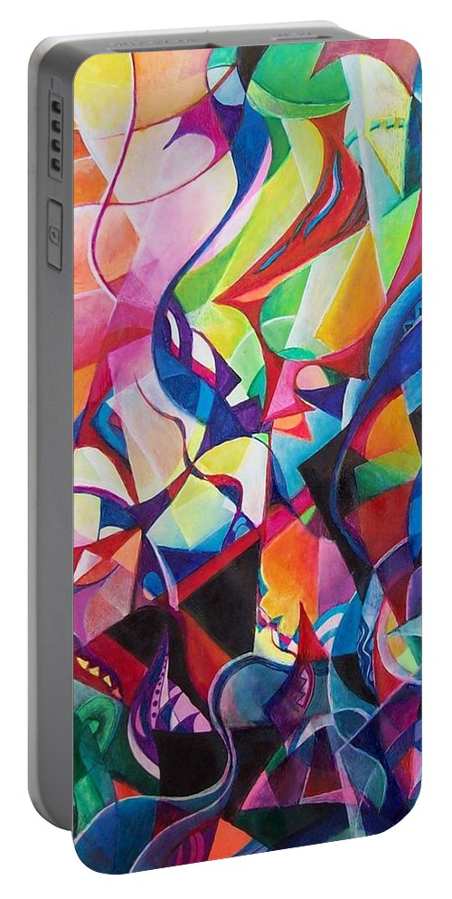 Viktor Tsoy Natali Russian Sun Light Portable Battery Charger featuring the painting zvezda po imeni solnce A star called sun by Wolfgang Schweizer