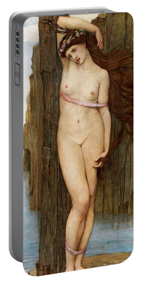 Stanhope Portable Battery Charger featuring the painting Andromeda 1 by John Roddam Spencer Stanhope