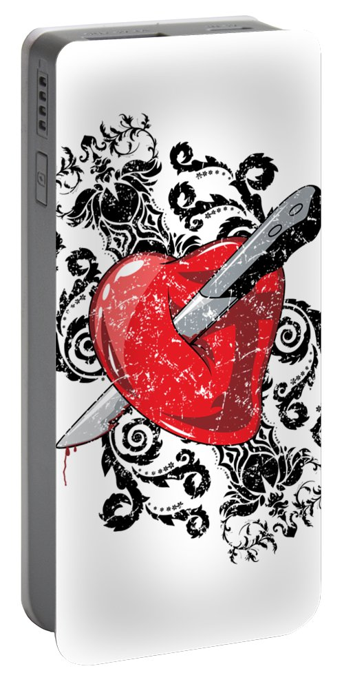 Halloween Portable Battery Charger featuring the digital art Anti Valentines Day by Passion Loft